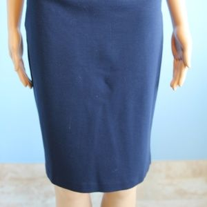 Cache Skirts - Cache Contour Navy Blue Skirt Silver Buckle